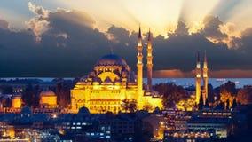The beautiful Suleymaniye mosque in Istanbul, Turkey stock footage