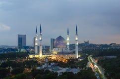 The beautiful Sultan Salahuddin Abdul Aziz Shah Mosque Stock Images