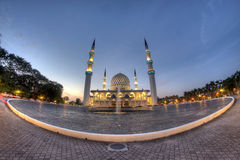 The beautiful Sultan Salahuddin Abdul Aziz Shah Mosque (also known as the Blue Mosque) Stock Images