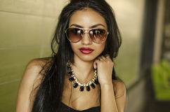 Beautiful sultry sexy exotic elegant woman Stock Images