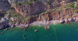 Aerial sea shoot stock footage