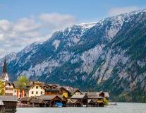 Beautiful summer Alpine Hallstatt Town Stock Photos