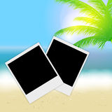Beautiful summer background with instant photos, Stock Images