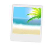 Beautiful summer background with instant photos, Stock Photos