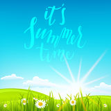 Beautiful summer background and sun Royalty Free Stock Photos