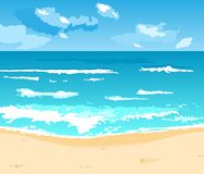Free Beautiful Summer Background With Beach Stock Photo - 19366720