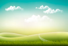 Beautiful summer countryside landscape background. Stock Photo