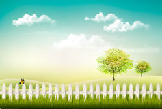 Beautiful summer countryside landscape background. Royalty Free Stock Images