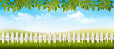 Beautiful summer countryside landscape background. Royalty Free Stock Photos