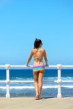 Beautiful summer day on beach Stock Photos