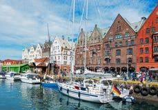 Beautiful summer day in Bergen. Norway stock photo
