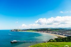 Llandudno Sea Front in North Wales, United Kingdom. Beautiful Summer Day in Llandudno Sea Front in North Wales, United Kingdom royalty free stock photography
