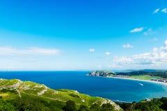 Llandudno Sea Front in North Wales, United Kingdom. Beautiful Summer Day in Llandudno Sea Front in North Wales, United Kingdom royalty free stock photo