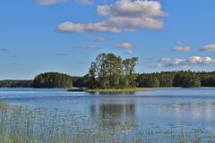 Beautiful summer day in Norrbotten Stock Photos