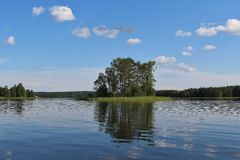 Beautiful summer day in Norrbotten Royalty Free Stock Image
