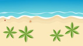 Beautiful summer day on the palm beach vector illustration