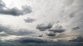 Beautiful summer day storm cloud timelapse stock video