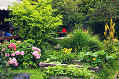 Beautiful summer designed art garden Royalty Free Stock Photo