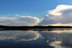 Beautiful summer evening in Norrbotten Royalty Free Stock Image