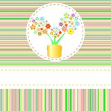 Beautiful summer flower pot greeting card  Stock Photos