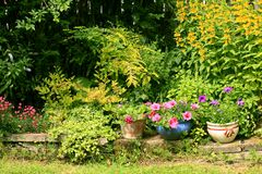 Beautiful summer garden Stock Photo