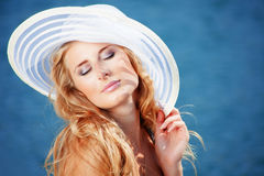 Beautiful summer girl Stock Images