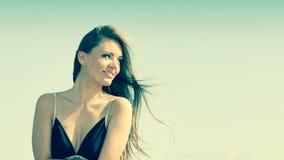 Beautiful summer girl portrait outdoor Stock Photo