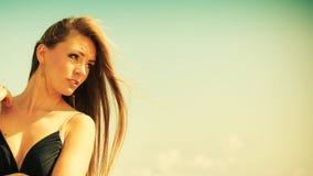Beautiful summer girl portrait outdoor Stock Photos