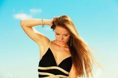 Beautiful summer girl portrait outdoor Stock Photography