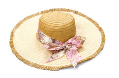 Beautiful summer hat isolated Stock Photography