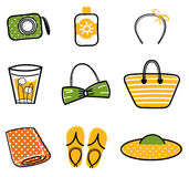 Beautiful Summer icons  Illustration Royalty Free Stock Images