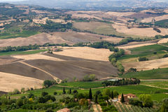Beautiful summer landscape. In Tuscany Stock Photos