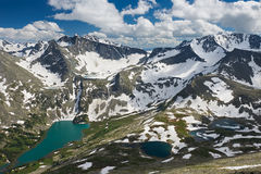 Beautiful summer landscape, Altai mountains Russia. Beautiful summer landscape,view of Lake Valley and the surrounding mountains from the top, Russia, Siberia Stock Image