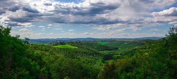 Beautiful summer landscape and blue sky, Tuscany Stock Image