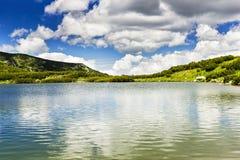 Beautiful summer landscape with Calcescu lake Stock Photo