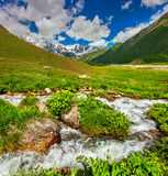 Beautiful summer landscape in the Caucasus mountains Stock Photo
