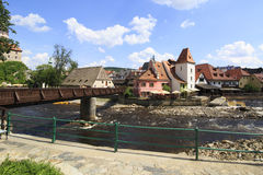 Beautiful summer landscape of Cesky Krumlov Royalty Free Stock Images