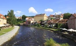 Beautiful summer landscape of Cesky Krumlov. Stock Photography