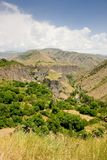 Beautiful summer landscape, in Garni,Armenia Stock Images