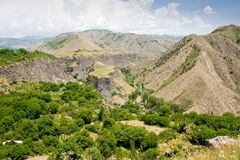Beautiful summer landscape, in Garni,Armenia Royalty Free Stock Images