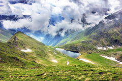 Beautiful summer landscape with lake Calcescu in Parang  mountai Stock Photography