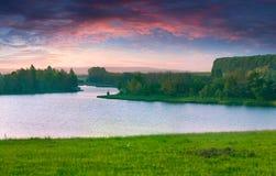 Beautiful summer landscape on the lake Stock Photo