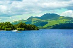 Beautiful summer landscape at Loch Lomond in Luss, Scotland, UK Stock Image