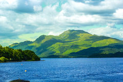 Beautiful summer landscape at Loch Lomond in Luss, Scotland, UK Royalty Free Stock Images