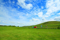 Beautiful summer landscape with lorry Stock Photography