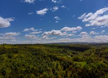 Beautiful summer landscape in the mountains in Pocono Mountains Pennsylvania USA stock image