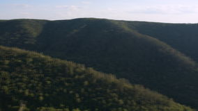 Beautiful summer landscape in the mountains with river stock footage