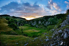Beautiful summer landscape in the mountains, Romania Royalty Free Stock Photography