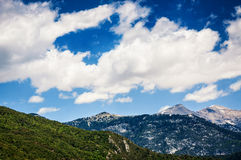 Beautiful summer landscape in the mountains Royalty Free Stock Photo