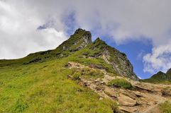 Greatness of nature. Mountain peak in summertime. Royalty Free Stock Photography